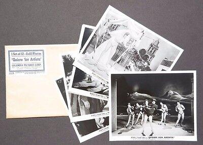 Vtg 1958 Quiero Ser Artista Movie Press Kit Photos (Resortes / Yolanda Varela)