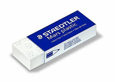 3 X Staedtler Mars Eraser Plastic Rubber Erasers