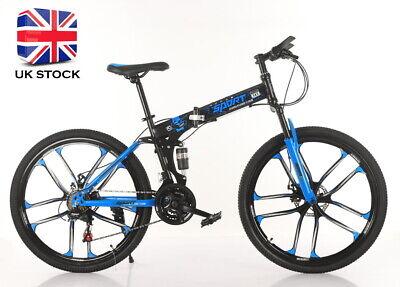 Full Suspension Folding Mountain Bike Bicycle 5 double Spoke Dual Discs Adult