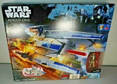 STAR WARS U-Wing Fighter Resistance Rebel Forces Space Ship + Cassian Andor MIB
