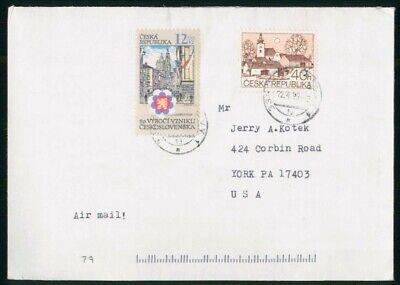 MayfairStamps Czechoslovakia 1999 to York Pennsylvania Cover wwo48683