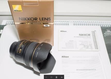 As New Nikon AF-S Nikkor 24mm f1.4G ED Lens