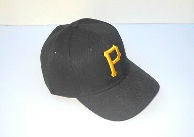 Pittsburgh Pirates Baseball Cap Hat One Size Adjustable Black New!! - Pirates Hats