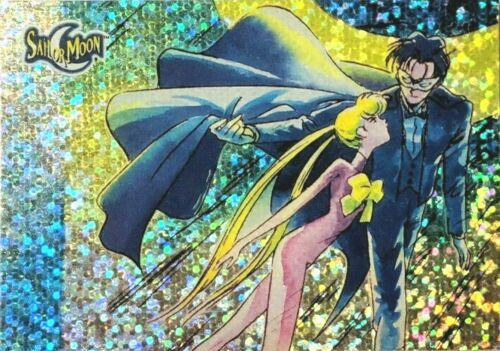 TUXEDO MASK & Sailor Moon Prismatic Trading Card Prism DIC TOEI Dart # 70 Paint