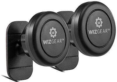 WizGear 2 Pack Stick On Dashboard Magnetic Car Mount Holder for all smartphones