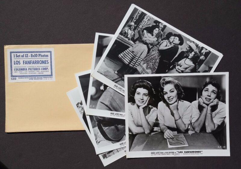 Vtg 1960 Los Fanfarrones Movie Press Kit Photos (Miguel Aceves Mejia) 8X10