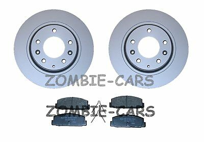 MAZDA 6 1.8 2.0 2.3 02->08 REAR BRAKE DISCS AND PADS FULL SET 280mm NEW COATED