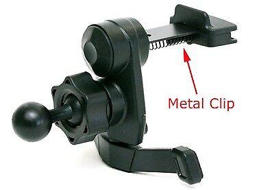 IG-A07: AC Vent Mount w/ metal clip for Garmin Nuvi (vertical vents compatible)