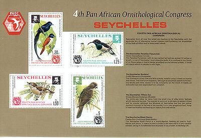 Seychellen Seychelles 1976 Vögel Birds Ornithologocal Conference MS