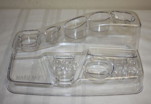 Mary Kay Clear Lucite Acrylic Plastic Cosmetic Makeup Display Case