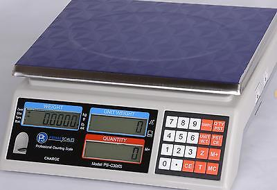 """Portable Counting Scale 75 lb X 0.002 lb, Pan 11""""x8.5"""", AC adapter, Brand New"""