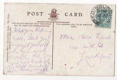 Miss Bella Friend 104 High Street Linlithgow 1904 823b