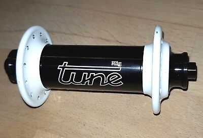 Tune Mig 70 24-Loch schwarz weiß VR-Nabe LRS front hub Retro Road black white gebraucht kaufen  Backnang