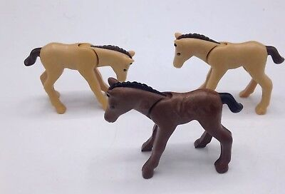 PLAYMOBIL Animals: Lot of 3 Modern Pony Horse
