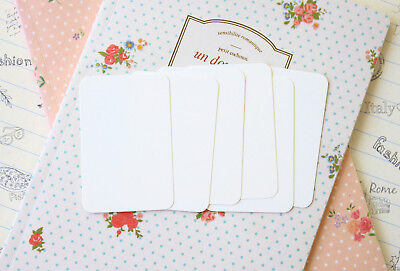 Ivory Business Cards 50pc blank DIY wedding name plain place cards pocket letter - Diy Place Cards