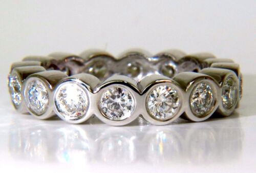 1.85ct Diamond Eternity Band Grand Bezel Flush H/vs 14kt