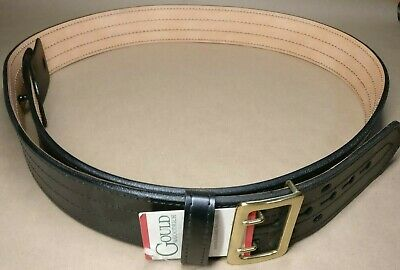Gould Goodrich B49-60fl4rbr Chrome E-z Slide Duty Belt 4 Row Stitched Mens 60
