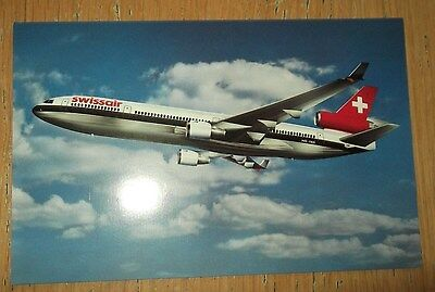 Swissair MD-11 branded postcard MINT CONDITION