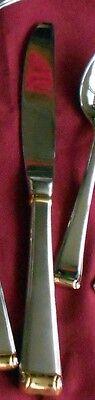 Gold Dinner Knife - Gorham Stainless Column Gold Dinner Knife Korea 18/8 Flatware