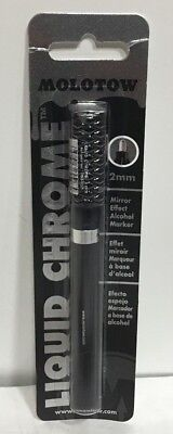 (Molotow Liquid Chrome Marker 2mm refillable pump by Chartpak 703102BC new sealed)