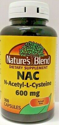 Nature's Blend NAC N-Acetyl-L-Cysteine 600mg 100ct Capsules