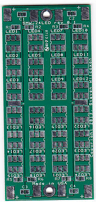 Diy 12v Dc 24 Led 5050 Plcc-6 Light Pcb Circuit Board Blank 1.4x3