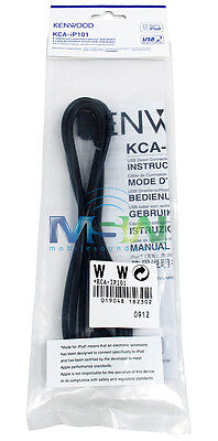 Kenwood Kca-ip101 Ipod Adapter Cable For Select Receivers Head Units Radio