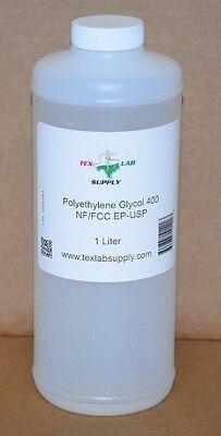 Polyethylene Glycol 400 Peg 400 Nf-fccep-usp 1 Liter -food Gradeconcentrates