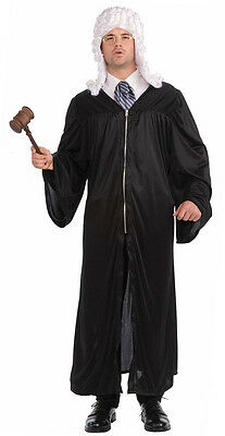 The Judge Robe Occupational Career Day Fancy Dress Up Halloween Adult Costume