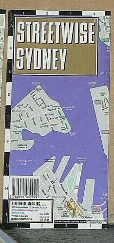 2005 Streetwise Laminated Street Map of Sydney, Australia