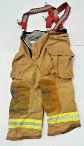 34s 34x24 Firefighter Pants with Suspenders Turnout Brown Janesville Lion P0114