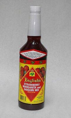 32oz. 1x Jonathan English Strawberry Margarita Rum Daiquiri Mix