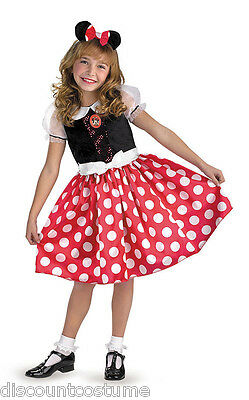 LICENSED MICKEY MOUSE CLUBHOUSE MINNIE MOUSE GIRLS HALLOWEEN COSTUME LARGE 5036H - Mickey Mouse Costumes For Girls