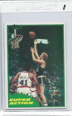 1981 Topps Basketball #E101 East 101 Larry Bird Super Action pack fresh