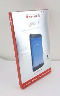 Zagg glass+ Apple Iphone 6 7 8 plus InvisibleShield Protector case screen friend, used for sale  Shipping to India
