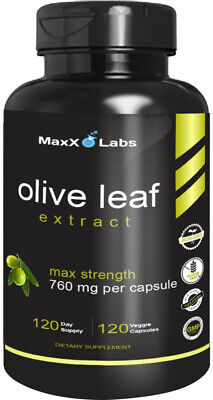 Best Olive Leaf Extract 750mg/120 Capsules - Super Strength Oleuropein Natures