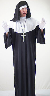 Monty Python-Stag Nights-Fancy Dress MALE NUN with SILVER CROSS & GLOVES