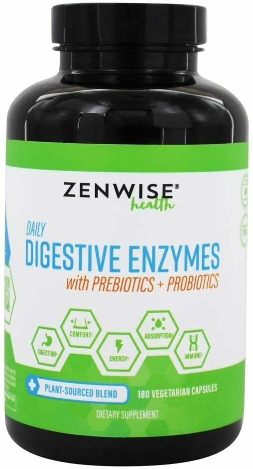 Zenwise Daily Digestive Enzymes With Prebiotics Probiotics -