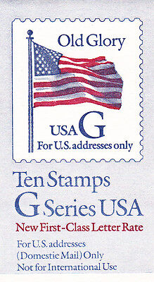 U.S. BOOKLET OF 10 SCOTT#BK220 1994 32ct RATE 'G' BLACK MINT P#1111 OR #2222