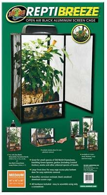 Zoo Med ReptiBreeze Open Air Aluminum Screen Cage, Black **FREE SHIPPING**