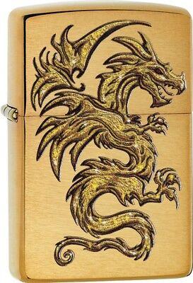 Zippo Dragon Design Lighter, Brushed Brass #29725
