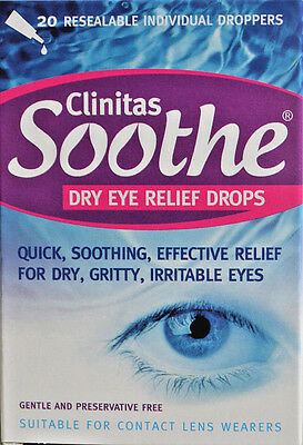 Clinitas Soothe  Dry Eye Relief Drops - 3 Boxes