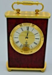 Linden Quartz Table Clock, NEW in Original Box & Packaging, Solid real wood