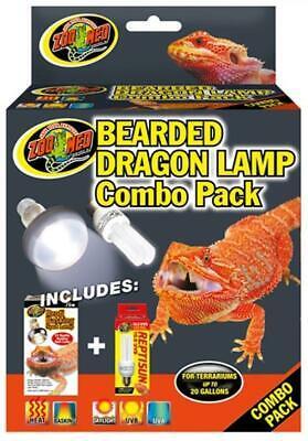 Zoo Med Bearded Dragon Basking Spot Lamp and Reptisun Mini Lamp Combo -