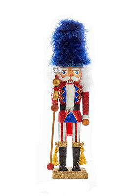 [Kurt Adler Hollywood Nutcracker - Red, White, & Blue Soldier with Blue Hat New</Title]