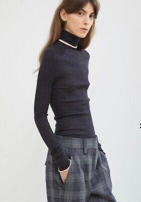 Acne Studios Contrast Trim Merino Wool  Turtleneck  NWT Size M