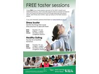 FREE Health and Well-being taster sessions in Cringleford next week !