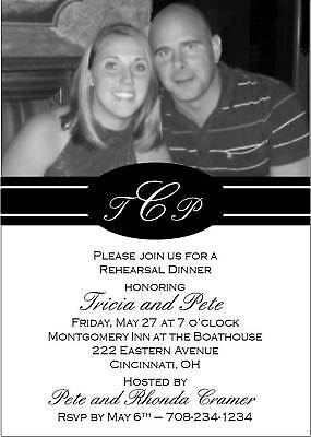 Rehearsal Dinner Custom Invitation with Couple's Photo