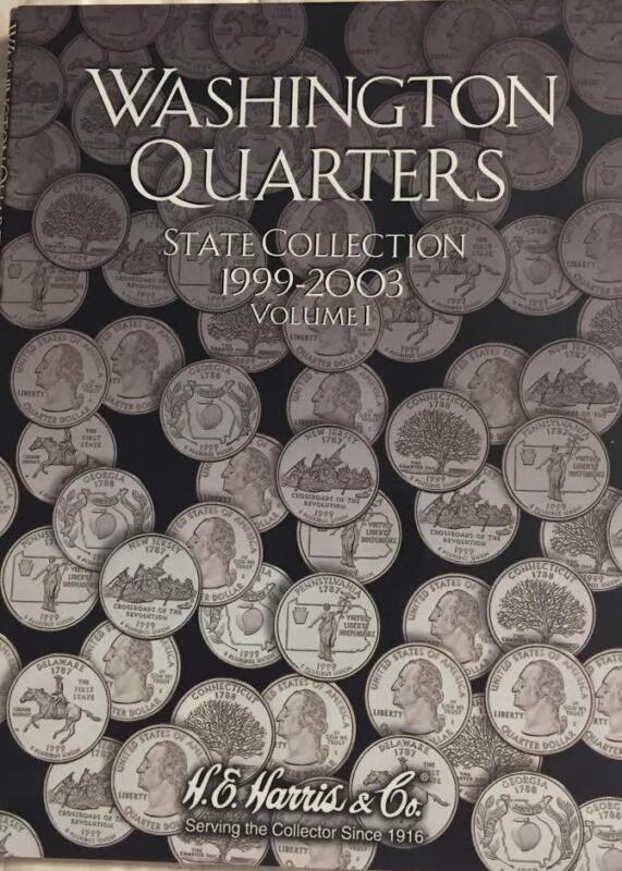 STATEHOOD QUARTERS  P & D  (1999-2008)  2 FOLDER SET BY H.E.HARRIS - NEW