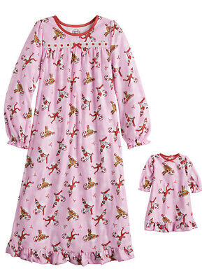 Girl's ELF ON THE SHELF HOLIDAY Nightgown & Matching Doll Gown Size 8 NWT